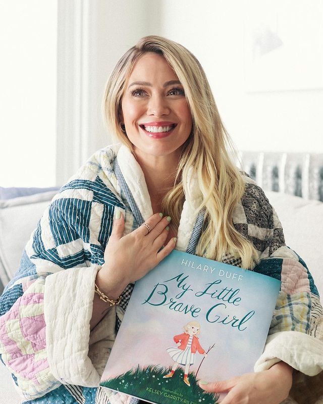 hilary duff on life as a mom of 3: 'it's a learning curve'