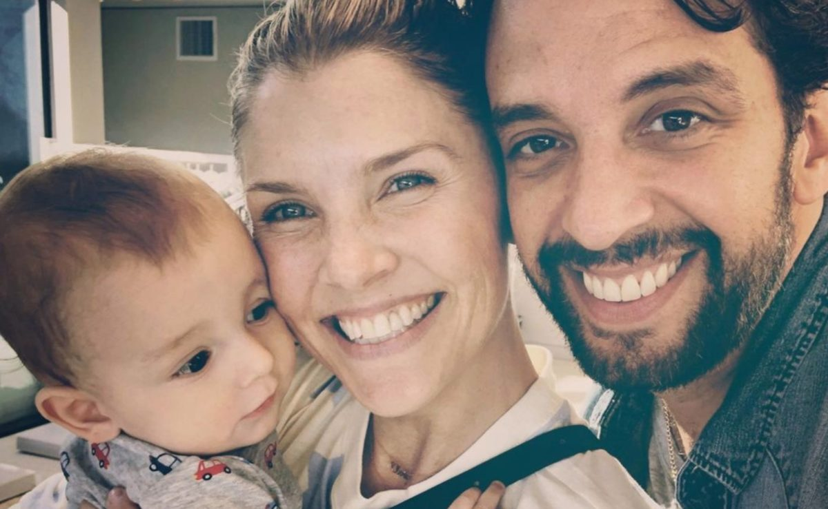 amanda kloots shares beautiful photo of almost 2-year-old son wearing his late father's hat