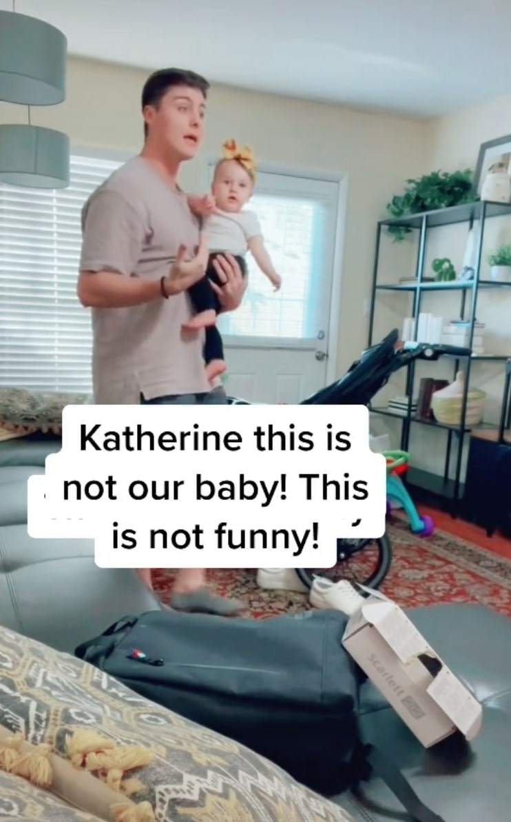 tiktok mom pranks husband by swapping their baby with another just for laughs