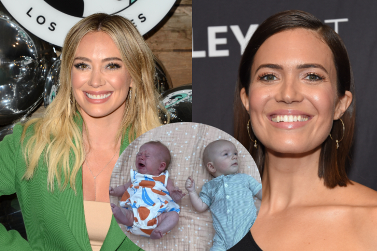 mandy moore & hilary duff's babies meet for the first time for adorable play date: 'a love story for the ages'