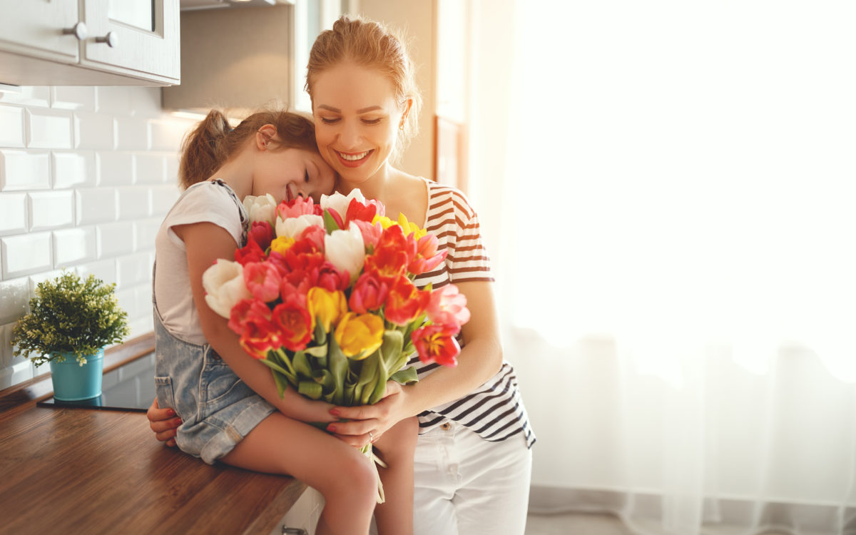 should husbands with young children buy things for their wife for mother's day?