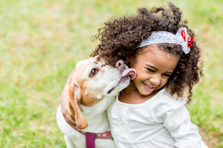 parents say pets have helped their kids throughout pandemic by reducing stress & promoting activity, new survey finds