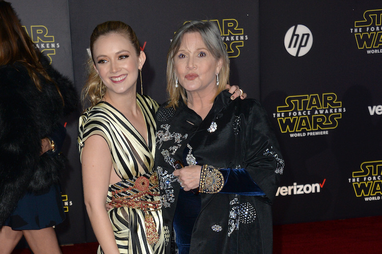 billie lourd is raising a star wars fan! see her sweet tribute to late mother, carrie fisher