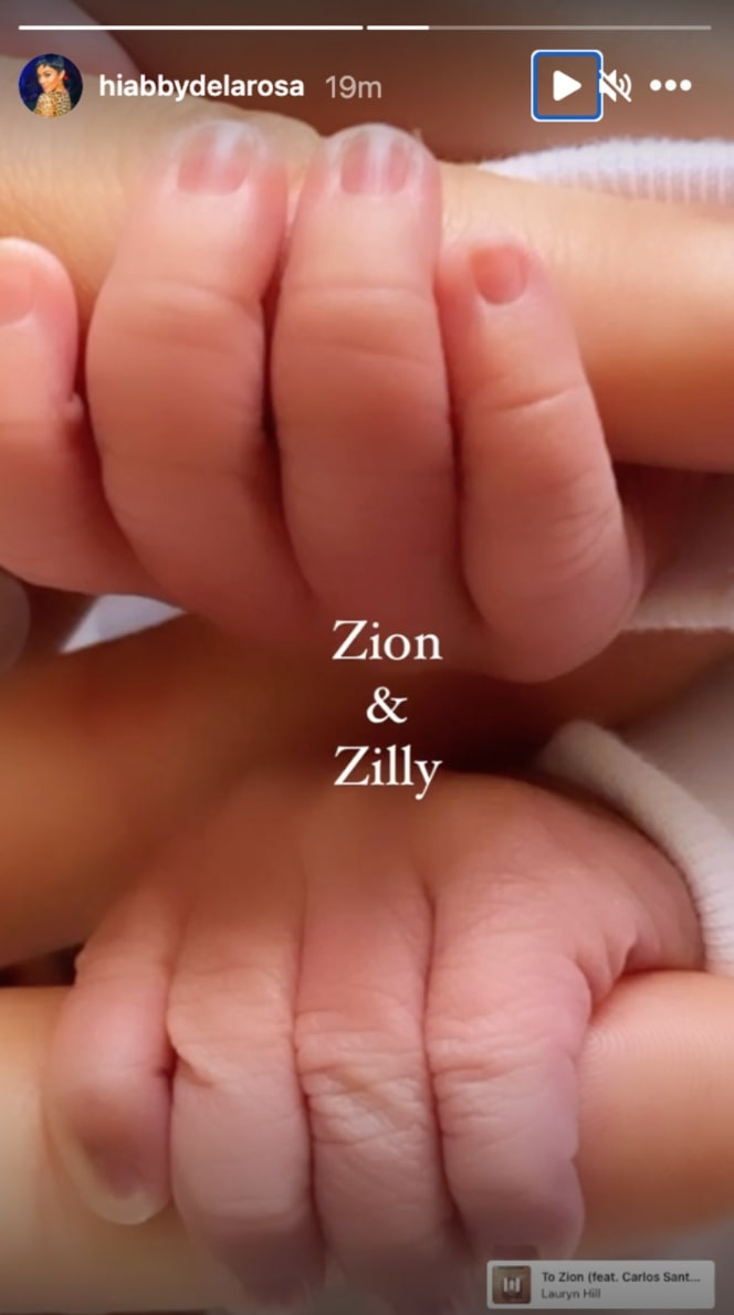 abby de la rosa and nick cannon are proud parents to twin boys zion and zillion