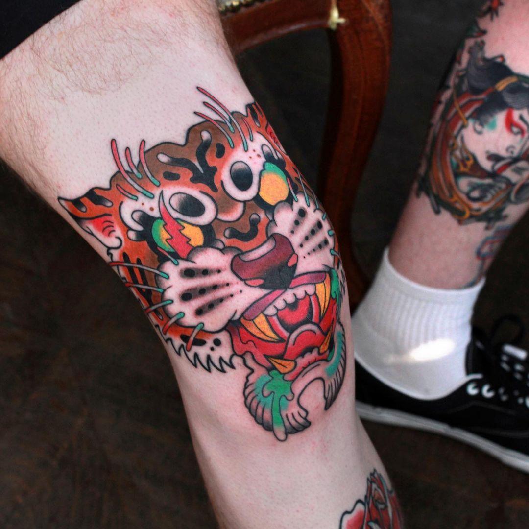 66 knee tattoos - creative knee tattoo ideas
