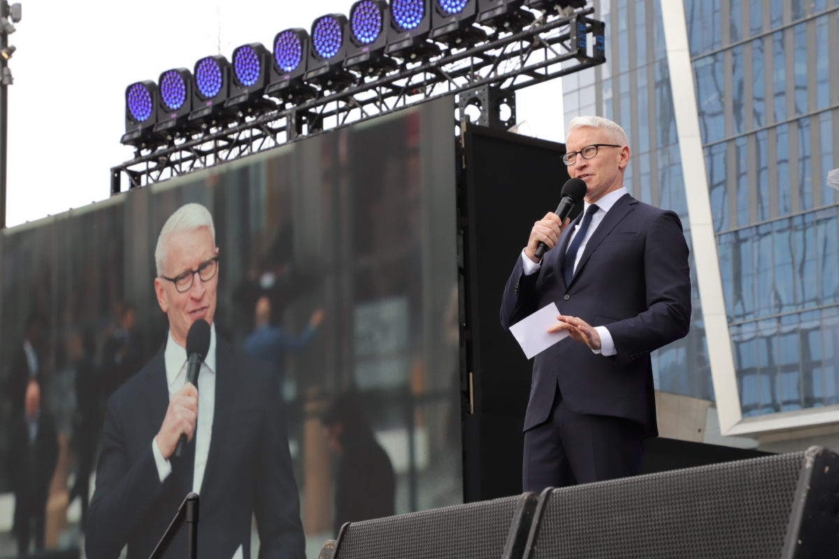 remember the adorable photo of anderson cooper's son wyatt seeing him on tv for the first time? this new one is better