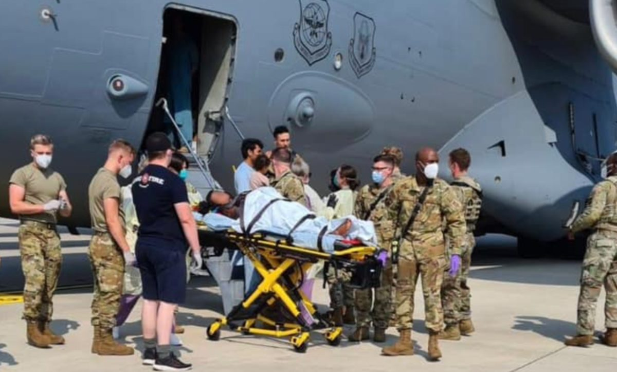 afghan woman gives birth to baby girl while on us evacuation aircraft