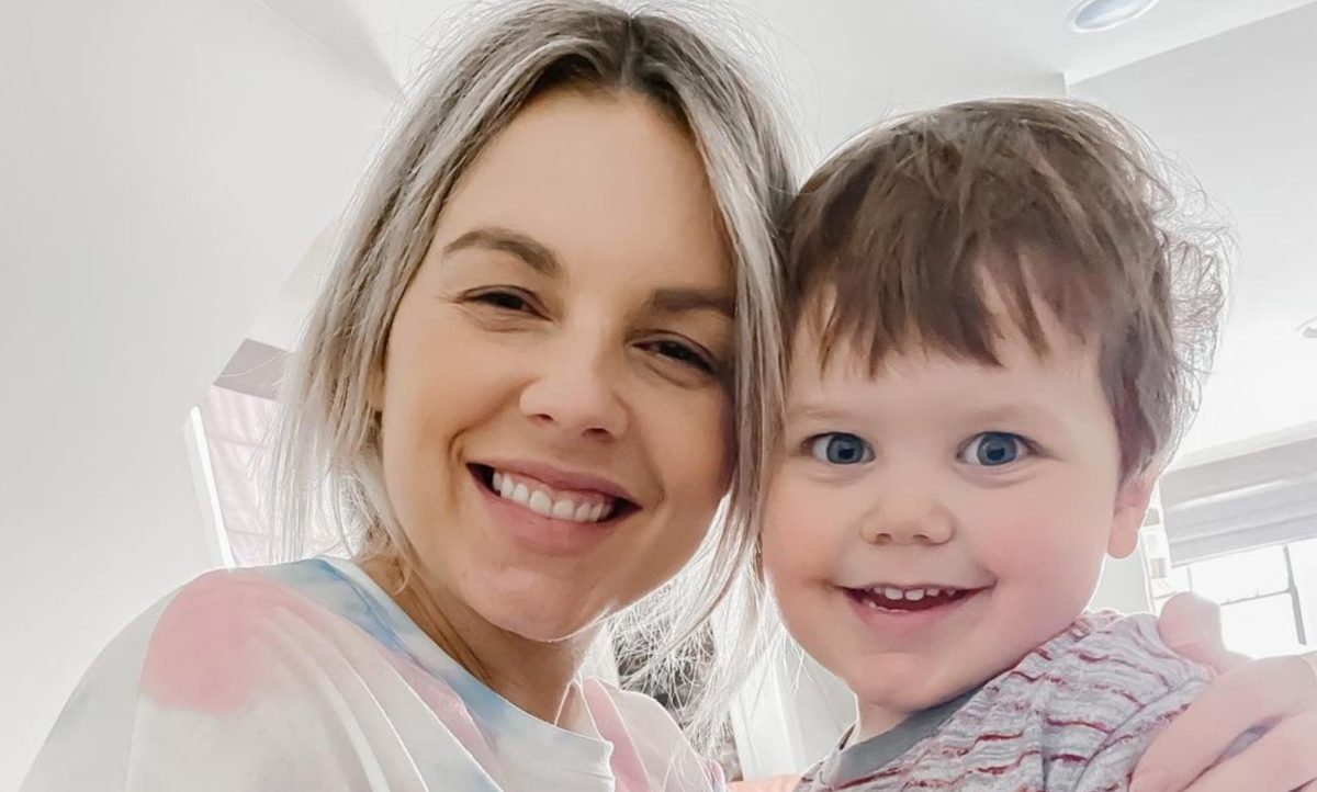 ali fedotowsky and her adorable son share how they help each other get through meltdowns!