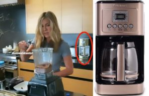 you can buy jennifer aniston's gold cuisinart coffee maker on amazon!