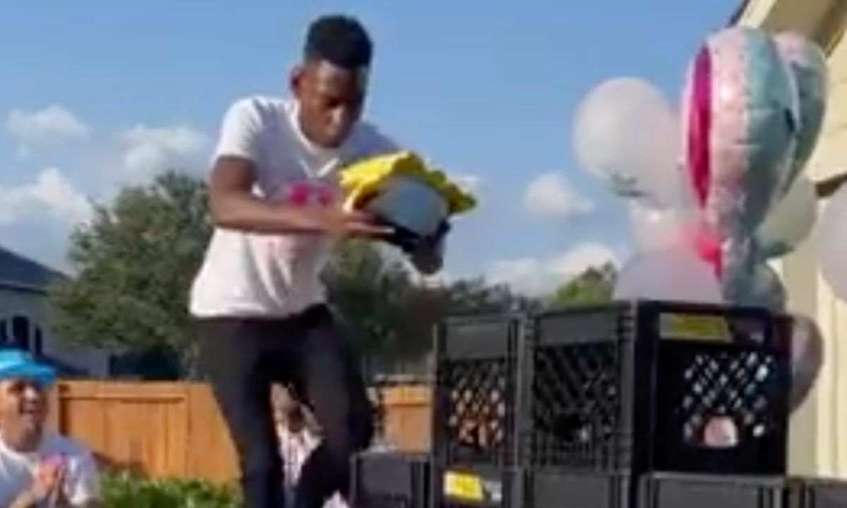 tiktok's 'milk crate' challenge has morphed into a 'gender reveal' and folks are not happy