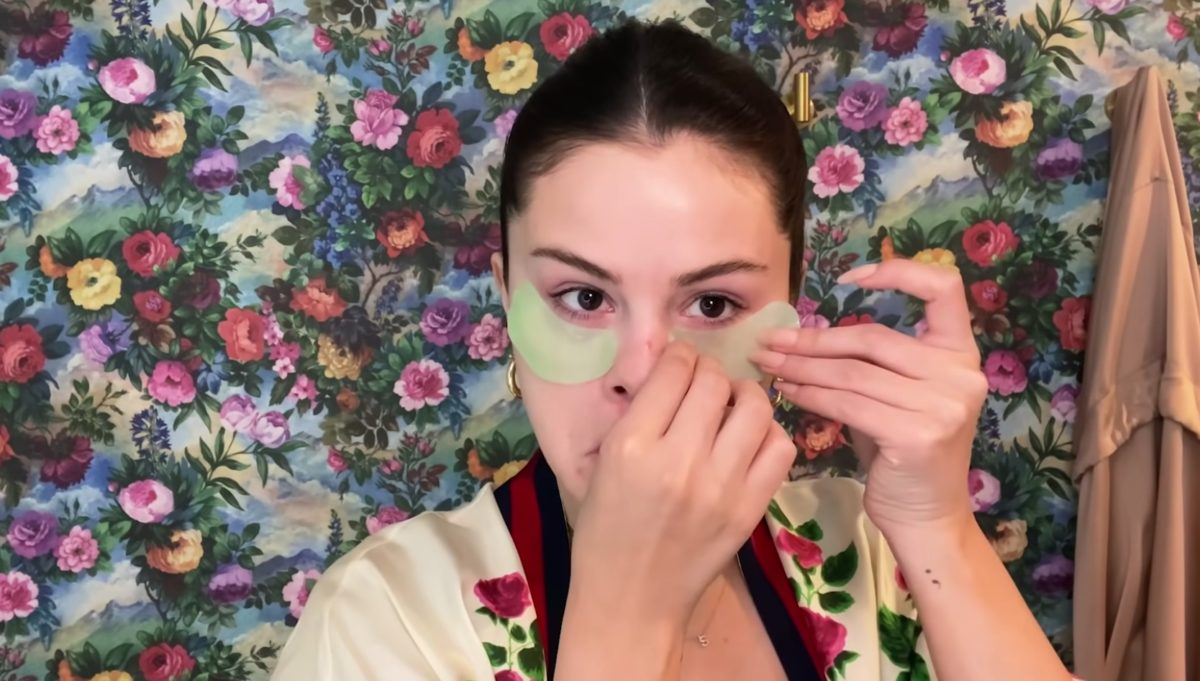 selena gomez reveals very affordable eye mask she uses to prepare her face for makeup